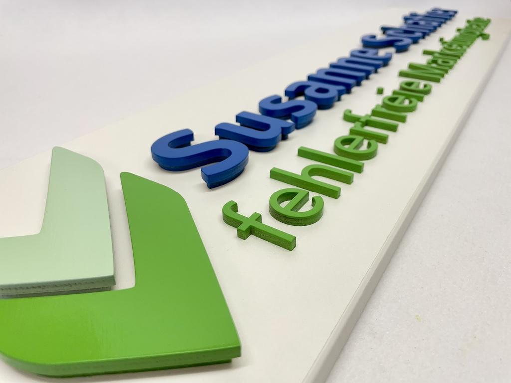 3D Logo und 3D Buchstaben
